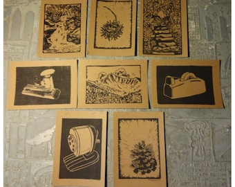 Pick 5 Hand Printed Cards