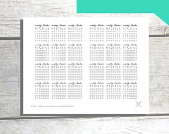 PRINTABLE Weekly Tracker Planner Stickers - MONDAY START
