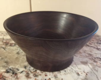 Hand-Turned Walnut Section Bowl