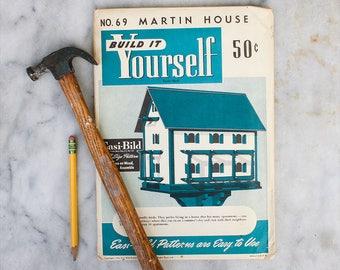 DIY Build it Yourself Martin House Birdhouse Pattern / 1950's Easi-bild / Mid Century Crafting