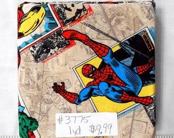 Fabric- 1 yard piece -NEW-Marvel Superhero/Hulk/Thor/Ironman/Wolverine/Spiderman/Captain America/Comic Book Characters/Marvel Comics (#3775)