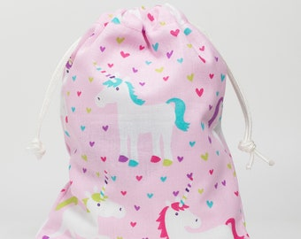 Unicorn, Birthday Party, Party Bags, Favor Bags, Treat Bags, Drawstring Bags, Goodie Bags, Party Supplies, Fabric Bags