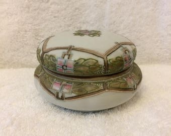 Hand Painted Nippon Covered Trinket Dish