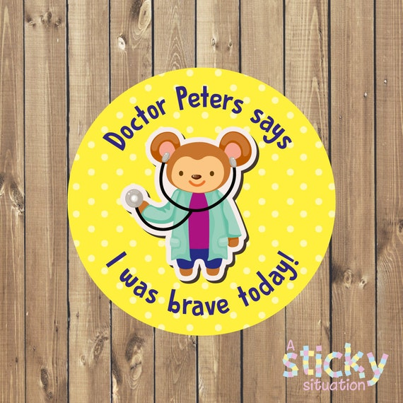 Personalized doctor bravery stickers doctor stickers nurse