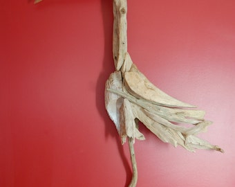 Driftwood Heron - (Great wall decor and gift!)