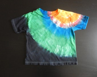 Tie Dye Toddler T Shirt Size 4T Vivid Color 100% Cotton Boxy Relaxed Fit