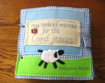Bible Quiet Book, Busy Book, Activity Book Monica Minto Fabric Book