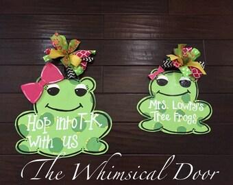 Frog Door Hanger Spring Door Hanger Welcome Door Hanger