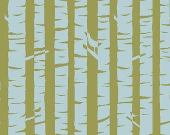 Organic Cotton Fabric, Meadow, Birches, Monaluna, by the half-yard