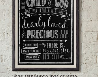 Child of God Psalm 139 Digital Download