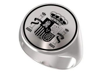 Spain Symbol Ring ,Spanish Ring ,Spain Silver Ring ,Spain Coat Of Arms, Signet Ring, Round Ring, 925 Sterling Silver Ring, Handmade Ring