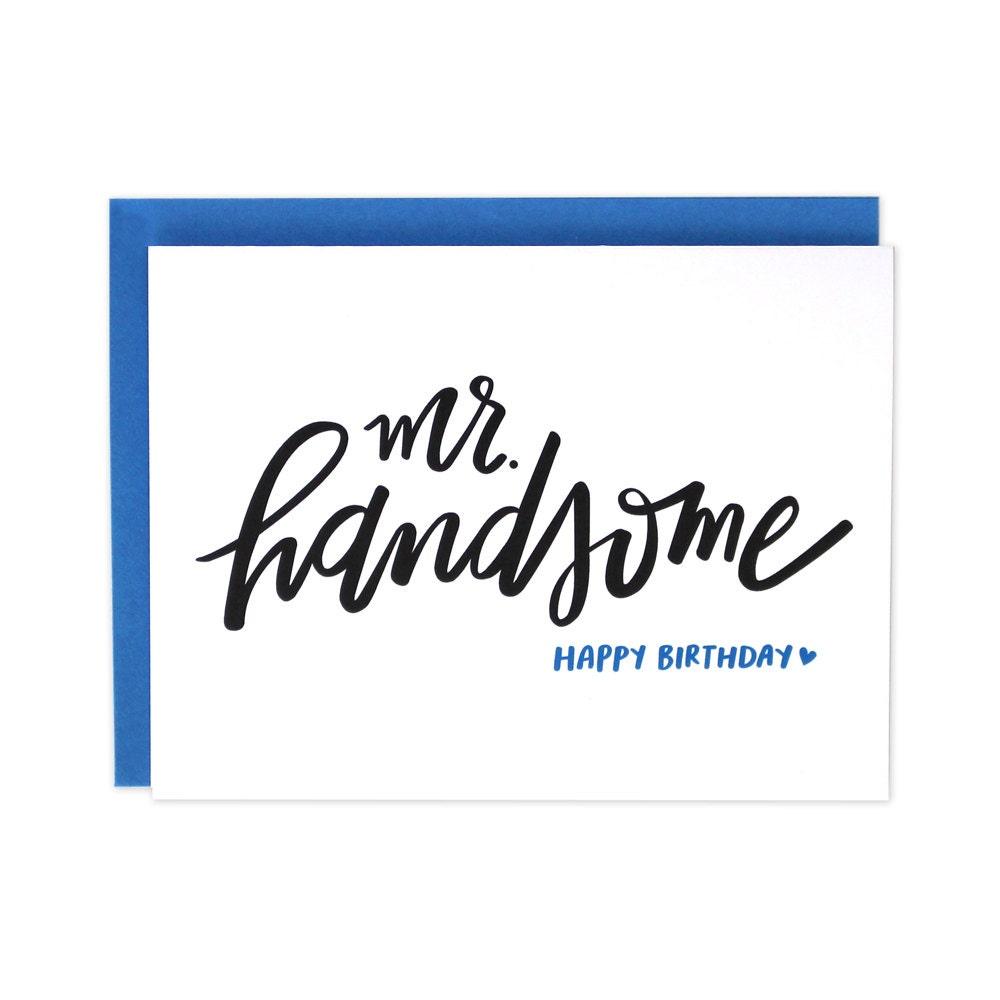 Happy birthday handsome husband birthday card boyfriend zoom bookmarktalkfo Choice Image