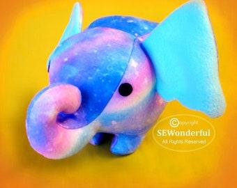 Cute Elephant Plush Stuffed Animal Sewing Pattern PDF