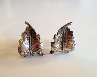 Vintage DANECRAFT Sterling leaf earrings