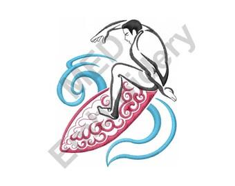 Surfer - Machine Embroidery Design, Surf