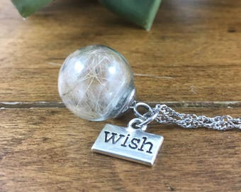 Dandelion Wish Necklace - Wish Necklace - Dandelion Necklace - Dandelion Wish Pendant - Wish Pendant - Dandelion Pendant - Wish Charm - Wish