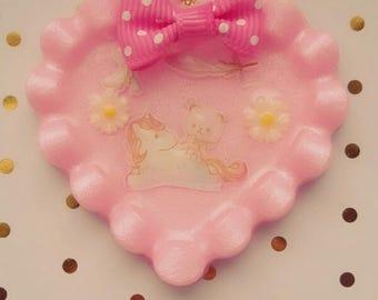 Bunny rides on Unicorn Bubblegumpink