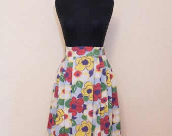 1940's large print floral skirt