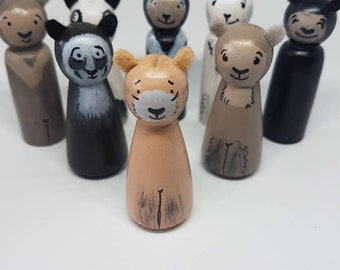 Bears from around the World / Peg Dolls / Small World Play / Open Ended Play/ Preschool / Montessori / Waldorf / Wooden Toys / Educational