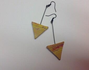 Yellow Sandstone Earrings