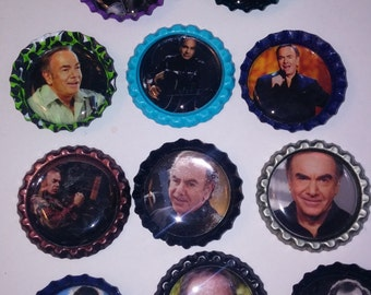 11 Neil Diamond multi-color bottle cap magnets