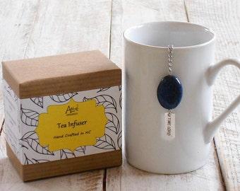 Dr Who Infuser, Loose Tea Infuser, Lapis Lazuli Stone, Timey Wimey Tea, Geek Tea Gift, Wibbly Wobbly Tea, Under 10 Dollars, Sci Fi Tea Gift,