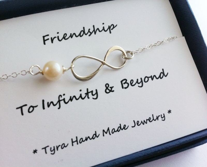 Infinity Necklacefriendship To Infinitymessage Cardeternity