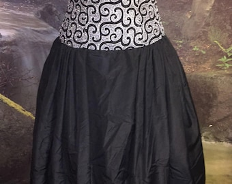 Vintage Black and White Formal Beaded Dress by B'zar Size 6