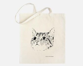 Cat Tote Bag Cat Bag Cat Cotton Shopping Bag Cats Cat Accessories Screen Printed Tote Bag Cat Gifts Cat Lovers