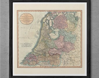 VINTAGE GERMANY MAP Print Antique Wall Art - Vintage Map of Germany 1799 - Germany Travel Print Map Antique Travel Art Poster German Map