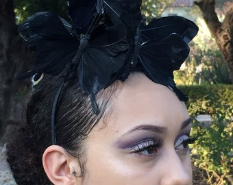 Black Butterfly Headband