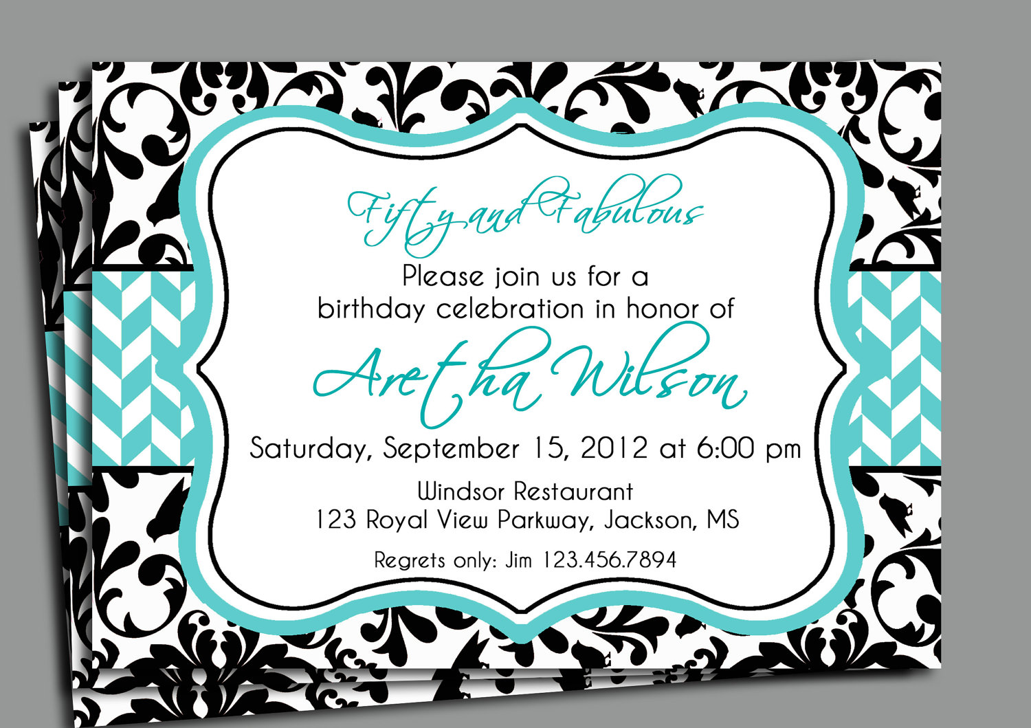 Black damask invitation printable bridal shower adult zoom stopboris Image collections