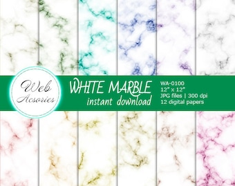 SEAMLESS PATTERN White marble Marble digital Texture marble Blog Paper Marble textures Marble backgrounds Invitation Marble digital paper