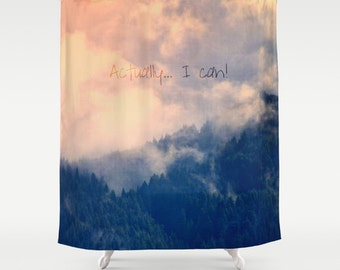 Fabric Shower Curtain, Bathroom Decor - Mountains, PNW, Pacific Northwest, Wilderness, Adventure, Landscape, Nature Photography, RDelean