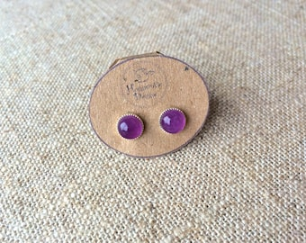 Beautiful Amethyst Stud Earrings - February birthstone