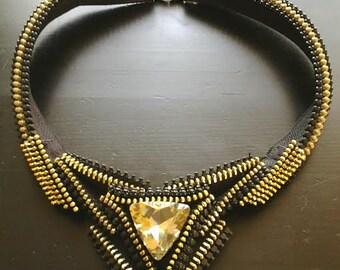 The Sparkle Zipper Necklace