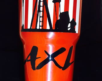 Oilfield Decal,Hard Had Stickers,Monogramed Yeti,Sale, American Flag,Tumbler,Customized Yeti,Pump Jack,America,Yeti,Occupation,Oilfield,Name