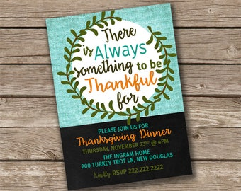 Always Something to be Thankful For Thanksgiving Invitation