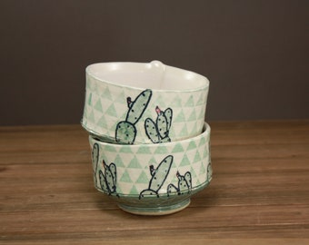 Geometric Cactus Bowl| Succulents| Gift for the Gardener| Hip Housewares