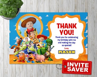 Toy Story thank you card, Toy Story Thank you, Toy Story thank you note, Toy Story thank you tag, Toy Story