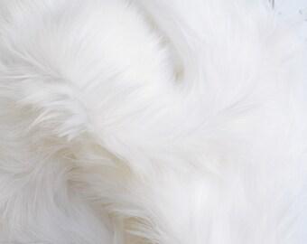 White Fur Fabric- White Craft Fur, White Fursuit Fur, White Furry Fabric White Shag Fur White Faux Fur White Fake Fur