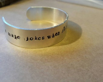 Friends tv show quote bangle