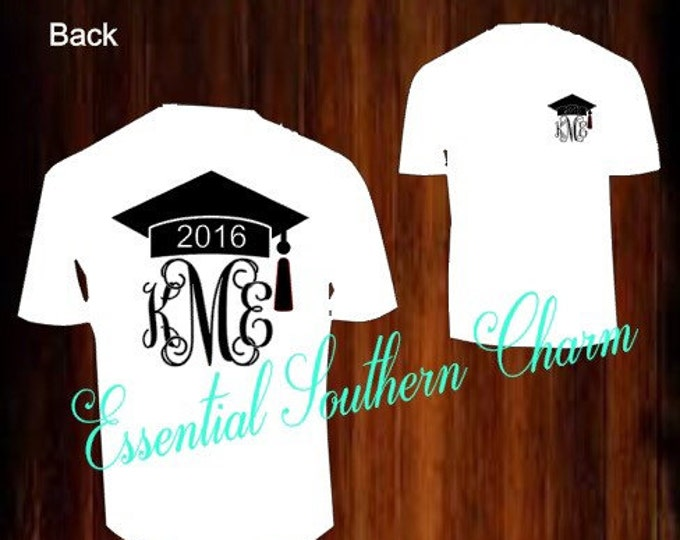 Graduation Monogram vinyl T-shirts
