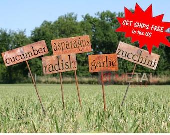 35 or more Garden Markers, Large Quantity Sets, Classic Metal Garden Markers, garden label, vegetable label, plant marker, herb garden