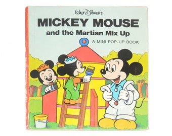 Mickey Mouse Pop-Up, Walt Disney Productions, Mickey Mouse and the Martian Mix Up, Vintage Disney Book, Disney Book from NewYorkPaperTrail