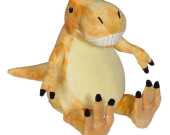 Personalized Embroider Buddy, Stuffed Animal, Embroider Buddy Tommie T-REX Dinosaur, Boy Birthday Gift
