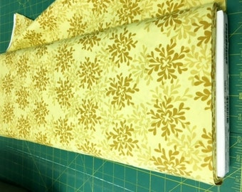 01938  - 1/2 yard of  Valori Wells Nest Leaves in Yarrow color