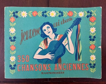 350 Chansons Anciennes, vintage 1960s French songbook