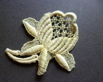 french application lace vintage aplicación encaje flor