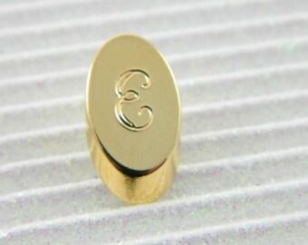 """Gold Monogram """"E"""" Lapel Pin - Personalized Initial """"E"""" Tie Tack"""
